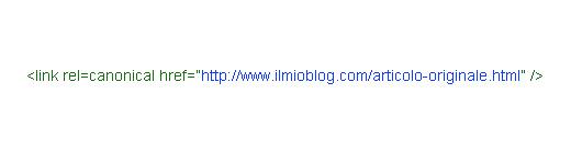 Esempio di canonical tag