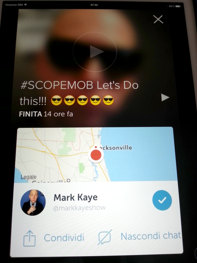 Mark Kaye su Periscope
